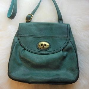 Fossil Turquoise Green Small Crossbody Bag